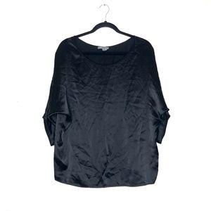 Vince Women's Black 100% Silk dolman sleeve blouse